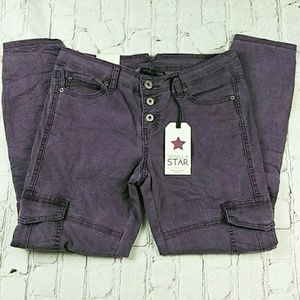 Vanilla Star Purple Skinny Denim Jeans Size 9